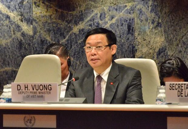 越南政府副总理王廷惠出席越南加入联合国40周年纪念仪式 hinh anh 1