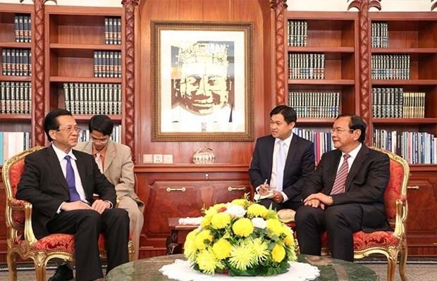 越南驻柬埔寨大使为能促进越柬传统友谊与团结贡献力量而感到荣幸 hinh anh 1