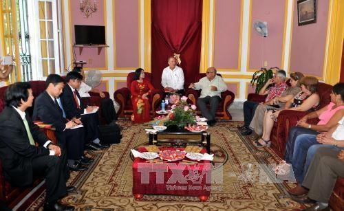 越南祖国阵线代表团访问古巴 hinh anh 1
