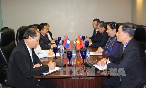 越南国会副主席丛氏放在第38届东盟议会联盟大会期间同各国国会领导举行会晤 hinh anh 1