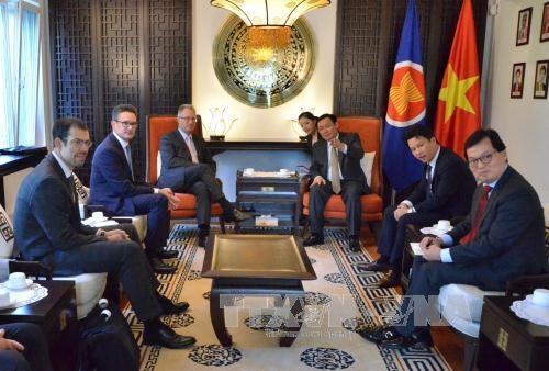 越南政府副总理王廷惠同世界贸易组织领导举行工作会谈 hinh anh 2