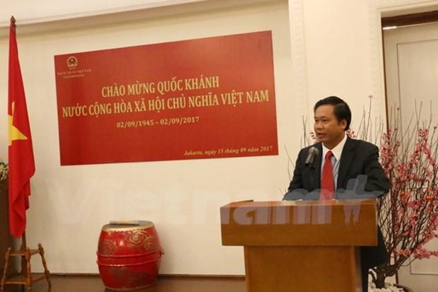 越南驻印尼大使馆举行越南国庆72周年纪念活动 hinh anh 1