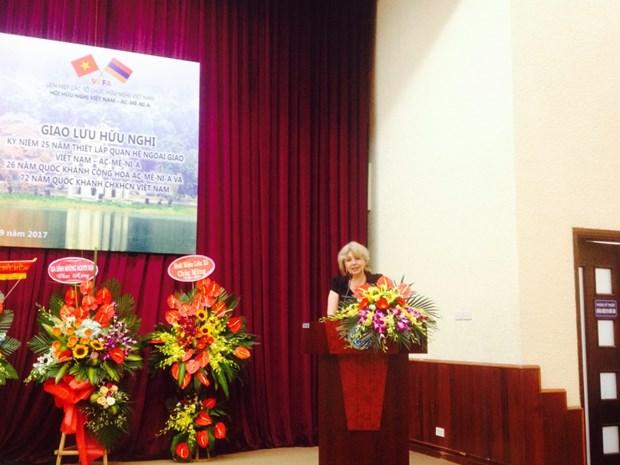 越南与亚美尼亚建交25周年纪念活在河内举行 hinh anh 1