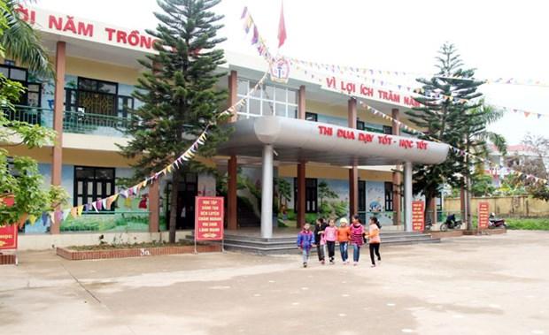韩国友利银行(越南)协助越南北江省改善学校基础设施 hinh anh 1