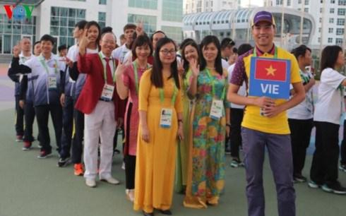 2017年第五届亚洲室内和武术运动会越南代表团举行升旗仪式 hinh anh 1
