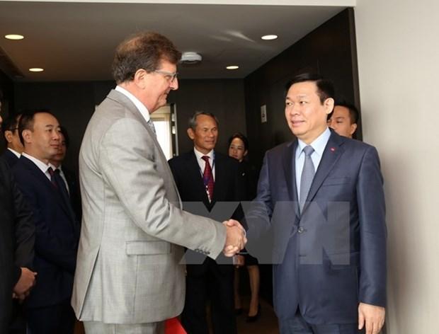 越南政府副总理王廷惠会见欧盟领导人 hinh anh 1