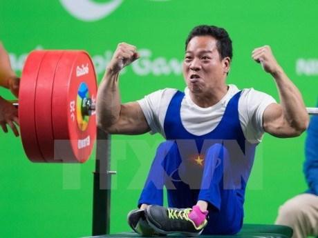 2017年东盟残疾人运动会:越南举重获得两枚金牌 hinh anh 1