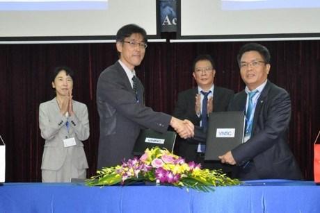 越日签署关于卫星数据交换的合作协议 hinh anh 1