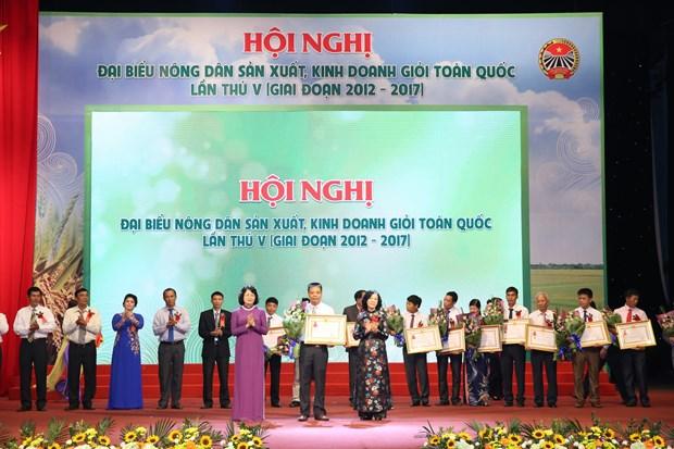 越南农民生产经营能手全国代表大会在河内举行 hinh anh 1