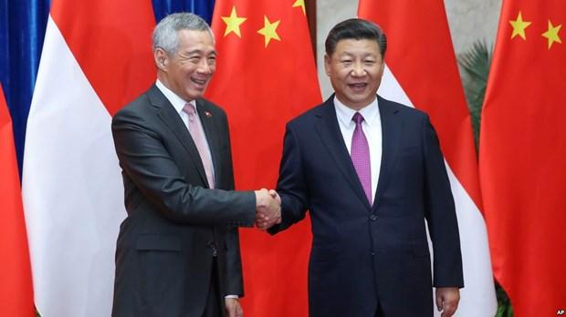 新加坡与中国加强双边关系 hinh anh 1