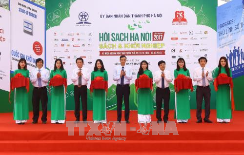 """""""图书与创业""""的2017年河内图书节开幕 hinh anh 1"""