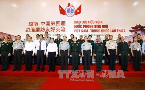 越中举行2017年第四次边境国防友好交流活动 hinh anh 3