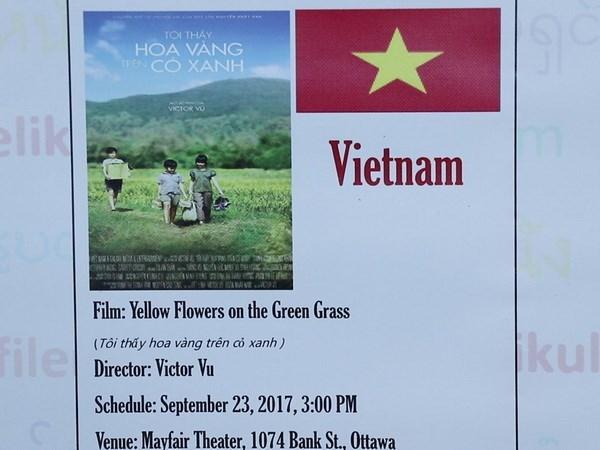 越南电影《我看见黄花在绿草中摇曳》在渥太华东盟电影周放映 hinh anh 1