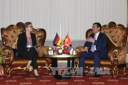 王廷惠希望德国继续协助九龙江三角洲地区有效应对气候变化 hinh anh 1
