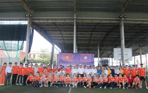 越老两国安全总局青年加强文化与体育交流 hinh anh 1