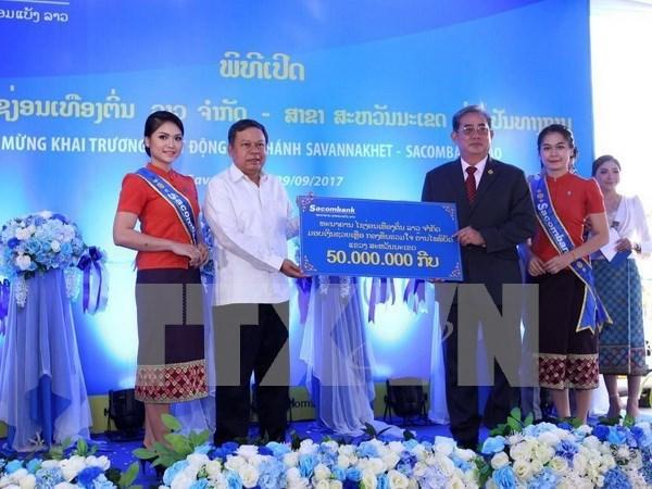 老挝西贡商信有限责任银行继续扩大分支机构网络 hinh anh 1