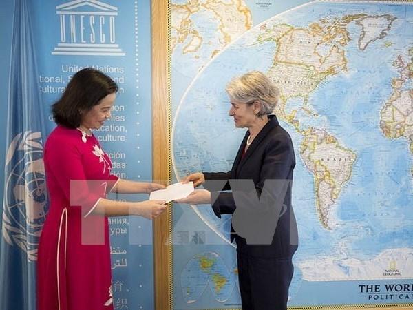 联合国教科文组织总干事高度评价同越南的关系稳健发展 hinh anh 1