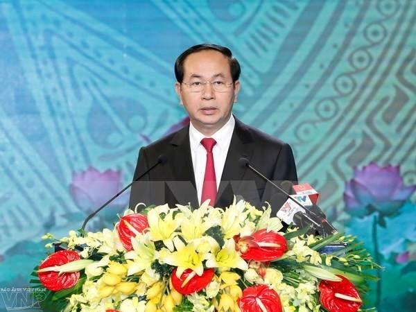 越南国家主席陈大光向全国少年儿童致以中秋节贺信 hinh anh 1