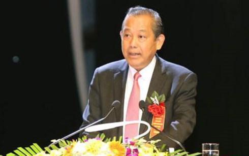 """政府常务副总理张和平出席2017年""""同感与慈爱""""文艺晚会 hinh anh 1"""