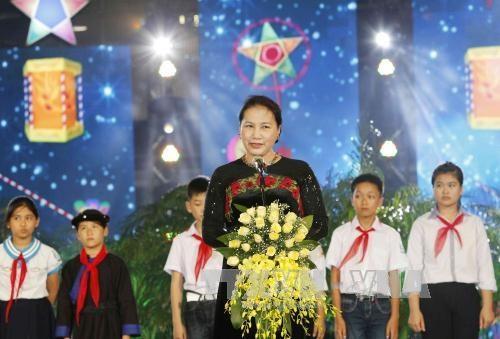 国会主席阮氏金银:儿童是家庭幸福的根基,是国家的未来 hinh anh 1