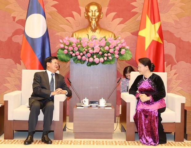 越南国会主席阮氏金银会见老挝总理通伦·西苏里 hinh anh 2