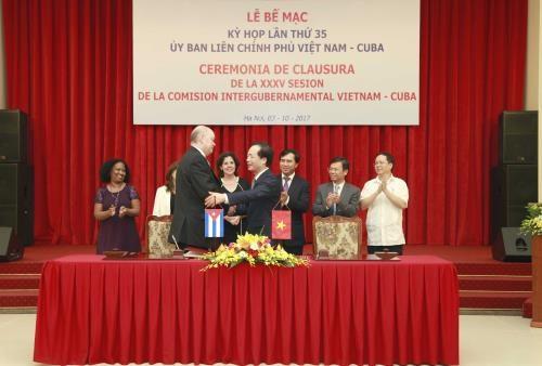 越南古巴政府间联合委员会第35次会议在河内落幕 hinh anh 1