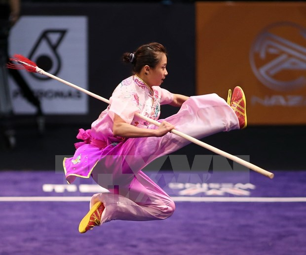 2017年世界武术锦标赛:越南运动员杨翠薇夺得金牌 hinh anh 1