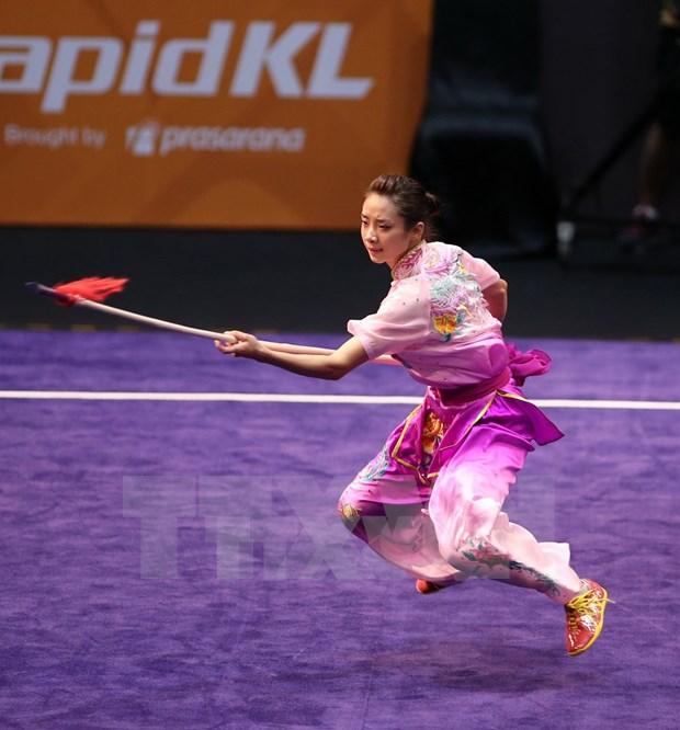2017年世界武术锦标赛:越南运动员杨翠薇夺得金牌 hinh anh 2