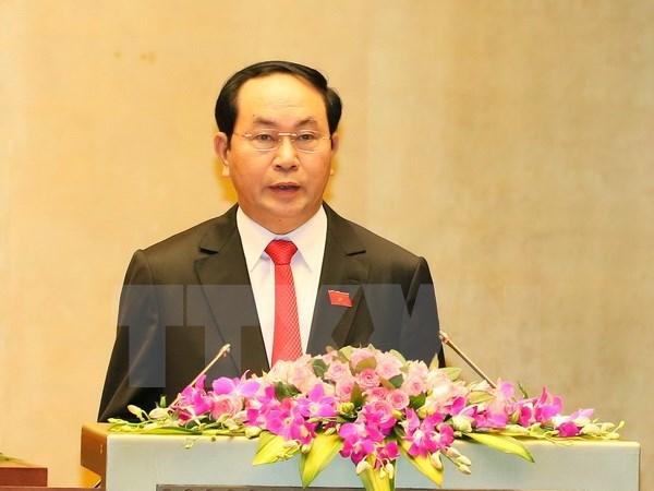越南领导人向德国领导人致国庆贺电 hinh anh 1