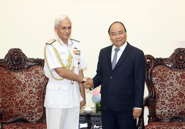 政府总理阮春福会见印度参谋长委员会主席 hinh anh 1