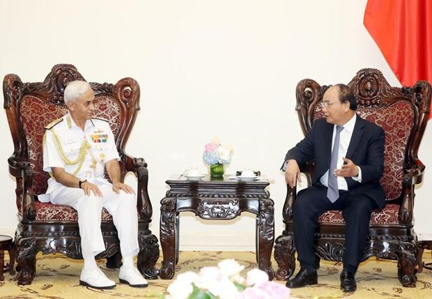 政府总理阮春福会见印度参谋长委员会主席 hinh anh 2