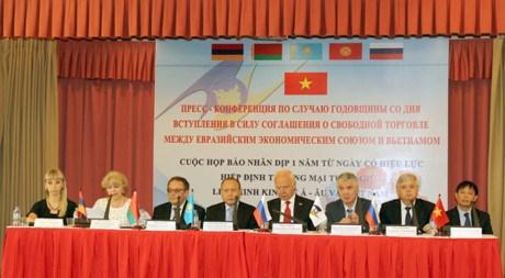 《越南与欧亚经济联盟自由贸易协定》:为经济发展注入强劲动力 hinh anh 1