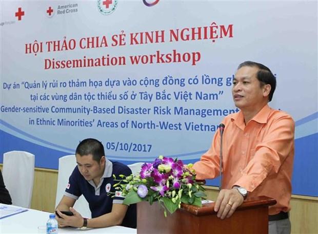 越南西北少数民族地区灾害风险管理项目实施经验分享会在河内召开 hinh anh 4