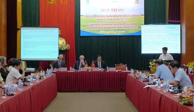 加强越南与德国农民协会的优质人力资源培训合作 hinh anh 1
