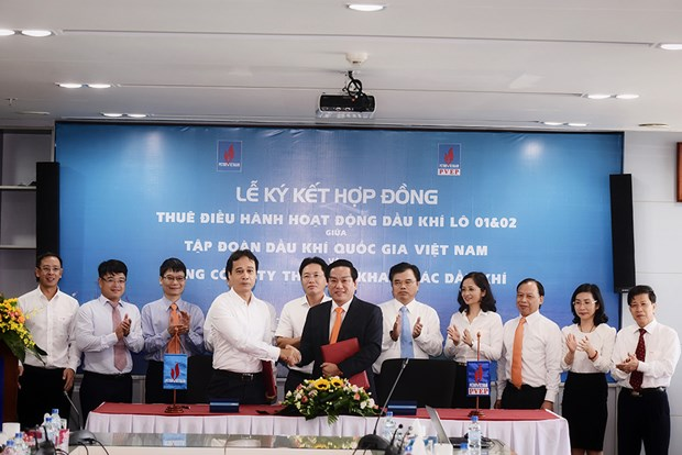 PVN与PVEP签署石油活动运营管理雇佣协议 hinh anh 1