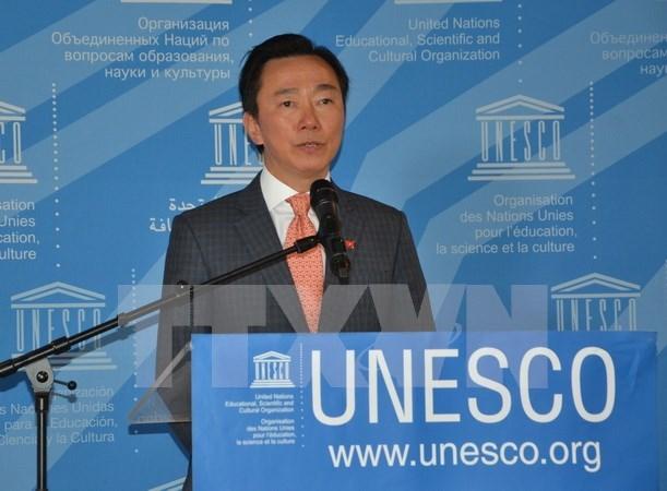 联合国教科文组织总干事第一轮投票:没有候选人得票过半 hinh anh 1