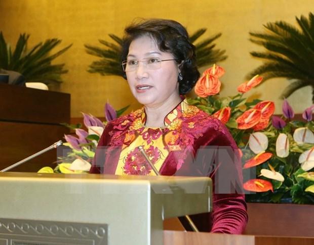 国会主席阮氏金银将出席第137届各国议会联盟大会 hinh anh 1