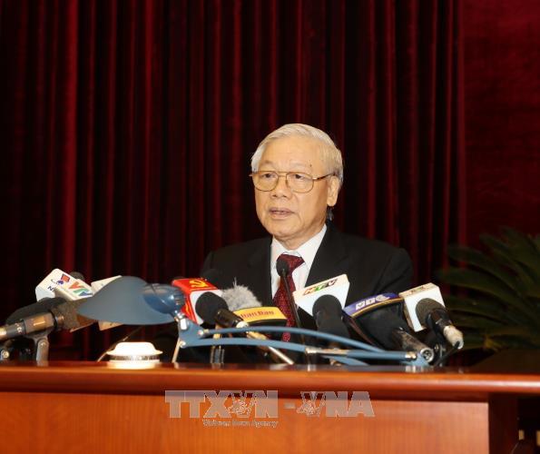 越共第十二届中央委员会第六次全体会议在河内圆满闭幕 hinh anh 1