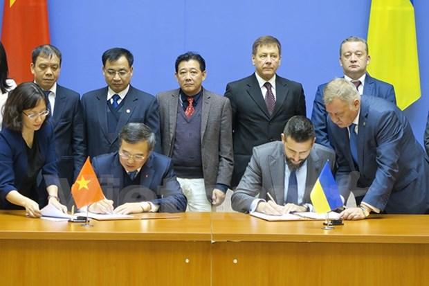 越南与乌克兰政府间联合委员会第14次会议在乌克兰举行 hinh anh 1