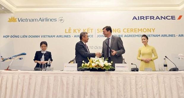 越航与法国航空公司签署全面合作联营协议 hinh anh 1