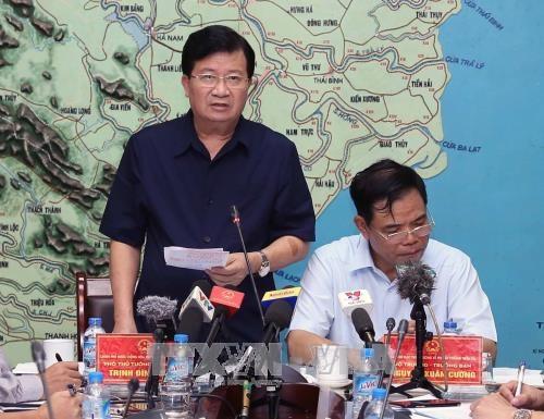 政府副总理郑廷勇:坚决确保每一个受灾群众不挨饿受冻和防止疾病发生 hinh anh 1