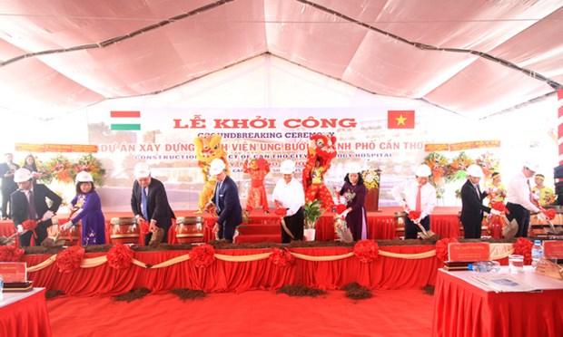 越南九龙江平原最具规模的肿瘤医院动工兴建 hinh anh 2