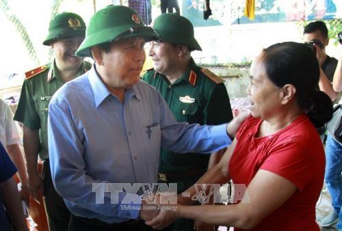 安沛省遭洪水袭击 致6死16失踪 张和平莅临灾区视察 hinh anh 4