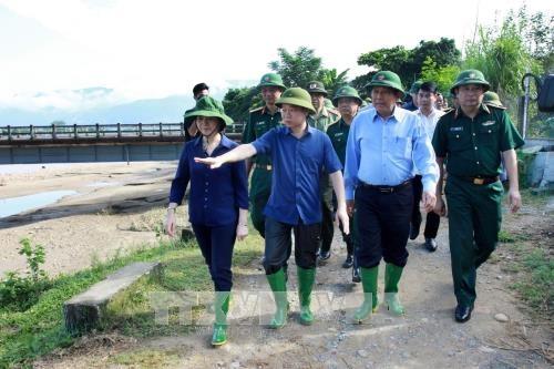 安沛省遭洪水袭击 致6死16失踪 张和平莅临灾区视察 hinh anh 3