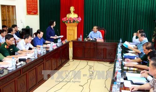 安沛省遭洪水袭击 致6死16失踪 张和平莅临灾区视察 hinh anh 1