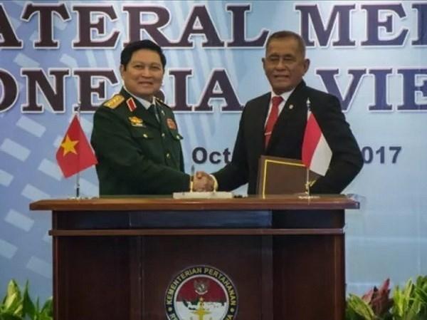 越南与印度尼西亚签署防务合作共同愿景声明 hinh anh 1