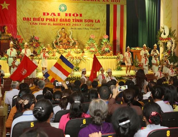越南佛教协会山罗省分会第二届代表大会隆重举行 hinh anh 1