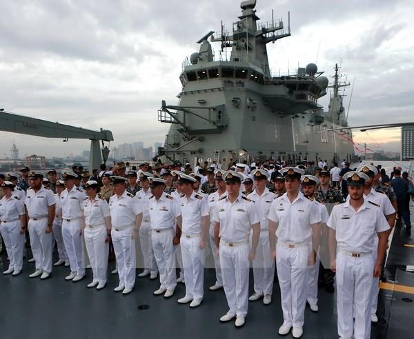 菲律宾与澳大利亚海军开展自然灾害应急演习 hinh anh 1