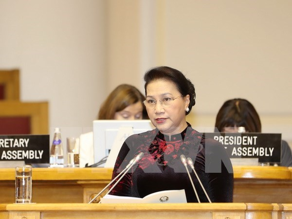 越南国会主席阮氏金银:越南一直努力为少数民族平等发展创造便利 hinh anh 1