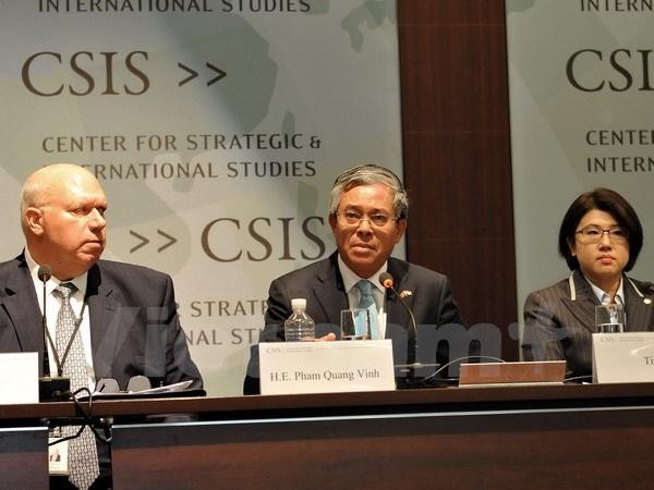 越南驻美大使范光荣出席第五届亚太安全架构研讨会框架的活动 hinh anh 1